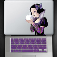 Purple Keyboard Cover and Tattoo Snow White Decal COMBO for Macbook Pro / Air 13""