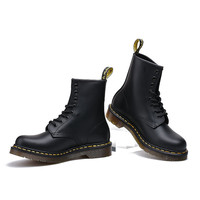 Dr. Martens Handmade Leather High-top Couple Thick Crust Fashion Low-cut Shoes Boots [8481549895]