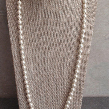 Deltah Pearl Necklace Simulated Knotted 14K Gold Filled Clasp NOS Vintage V0832