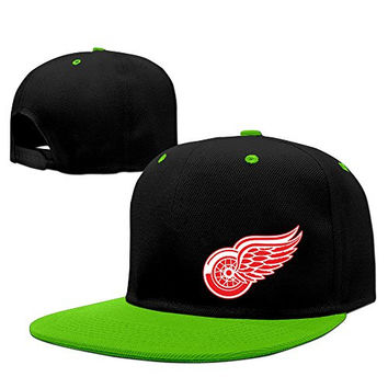 Adult Causal NHL Detroit Red Wings Logo Cotton Mesh Hat KellyGreen One Size For Men And Women