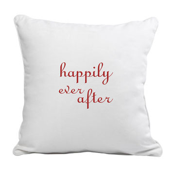 Happily Ever After Throw Pillow