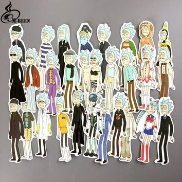 NEW 50pcs/lot funny cosplay Rick and Morty Stickers for car skateboard motorcycle laptop notebook waterproof cartoon decals gift