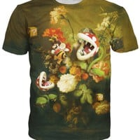 Still Life with Flowers and Piranha Plants T-Shirt