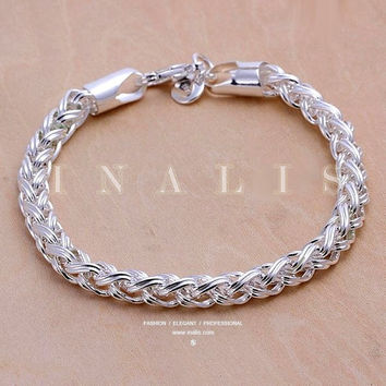 Bracelets 925 Sterling Silver Classical Twist Chain Popular Hot Gift Fashion #lcmq = 5617164097