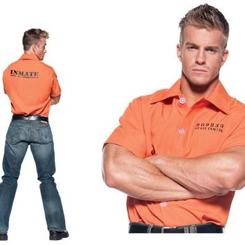 Orange Prisoner Shirt Standard Costume 2017