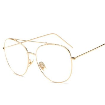 Big Yurt Plain Glases Women Men Glasses 2017 Vintage New Fashion Transparente Mirror Reading Glasses Lunette Gafas De Lectura