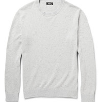 A.P.C. - Flecked Cotton and Silk-Blend Sweater | MR PORTER