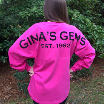 Glitter Monogram Spirit Jersey, Custom Spirit Jersey, Sorority, Spirit Jersey, Team, School T Shirt