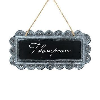 Large Tin Chalkboard Sign - Personalized (Pack of 1)