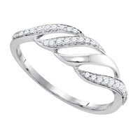 Diamond Fashion Ring in 10k White Gold 0.16 ctw