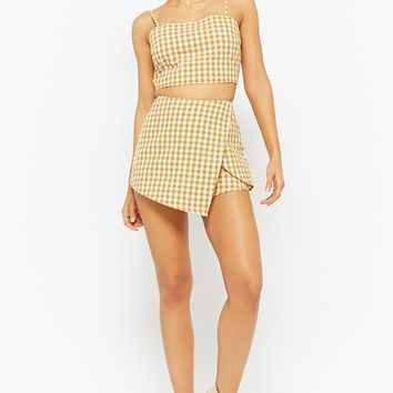 Gingham Crop Cami & Skort Set