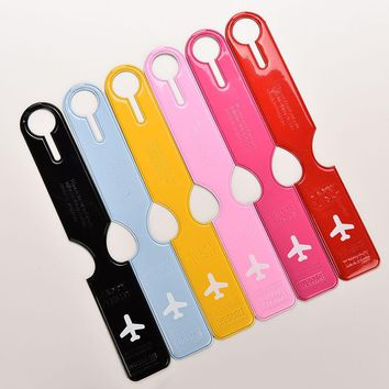 6 Colors Luggage Tag Easily Identify For Travelling PVC Soft Fashionable Suitcase Label ID/Address Write Travel Accessories 1PCS
