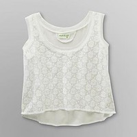 Dream Out Loud by Selena Gomez  Junior's Woven Crop Tank Top