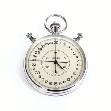 Vitage chronometer Slava from Russia Soviet Union era stop watch Slava, soviet stopwatch