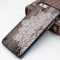 iphone 6 soft case,art wood flower image iphone 6 plus case,mandala flower iphone 5s case,wood grain flower iphone 5c case,fashion iphone 5 cover,personalized iphone 4s case,latest design iphone 4 case