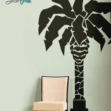 Vinyl Wall Decal Sticker Palm Tree Statue #192