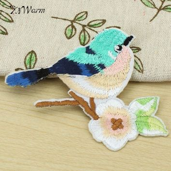 Birds  Flowers  Patch  Embroidery  Patches  Badge  Appli