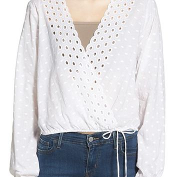 BP. Eyelet Lace Cotton Top | Nordstrom
