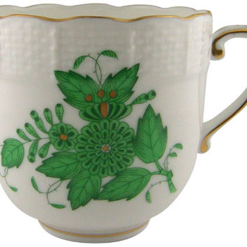 Herend Green Chinese Bouquet Mocha Cup 7072AV