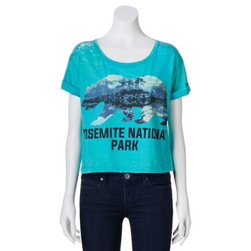Freeze ''Yosemite National Park'' Crop Tee - Juniors, Size: