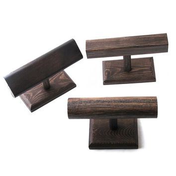 Wood Display T-BAR Watch/Bracelet Display Stand