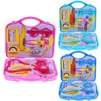 15pcs Children Doctor Nurse Pretend Play Set Portable Suitcase Medical Tool