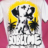 Sublime Lou dog reggae ska punk band handmade t shirt size S