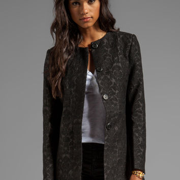 BB Dakota Rosette Jacquard Coat in Black from REVOLVEclothing.com