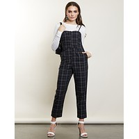 New Roads Plaid Jumpsuit