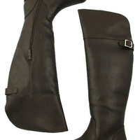 Knee-High Boots in Brown