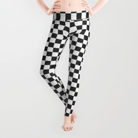 Checkers Leggings by Kathleen Sartoris