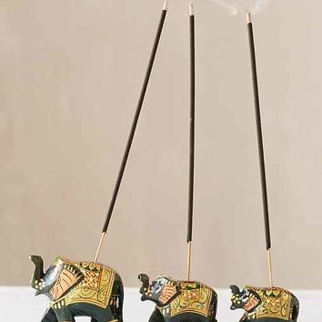 Elephant Incense Holder Set- Yellow One