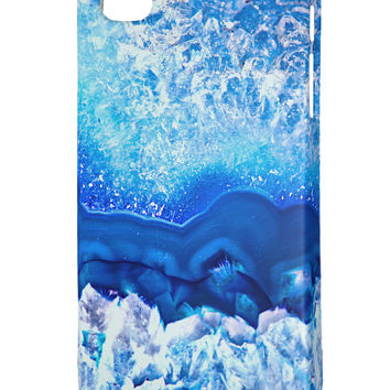 Blue Agate Geode Print iphone 4 Plastic Case All Over Print