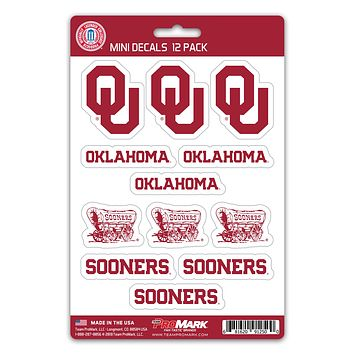 Oklahoma Sooners Decal Set Mini 12 Pack