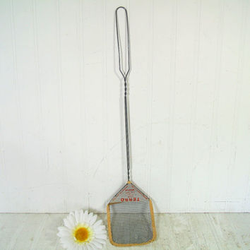 Antique Metal Mesh Fly Swatter - Vintage Primitive Household Pest Prevention Necessity - Antique Advertising Kitsch Swag Barn Find Exclusive