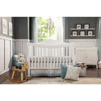 Parker 4-in-1 Convertible Crib with Toddler Rail - Pure White