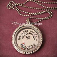 Teacher Locket / Floating Charm Locket / Teacher Appreciation / You have made a difference