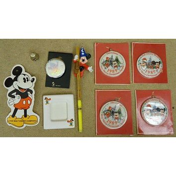 Disney Mickey Mouse Ornament Watch Thimble Toys