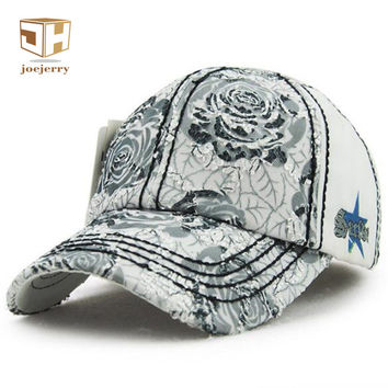 Fashion Girls Lace  Baseball Cap Fitted Floral Embroidery Bone Summer Caps Sun Hats For Women