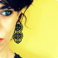 Black Lace Earrings - Lace Jewelry