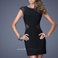 2014 La Femme Sheer Back Homecoming Dress 20577