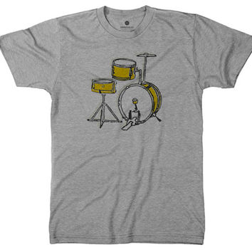 Drums Yellow - Heather Grey
