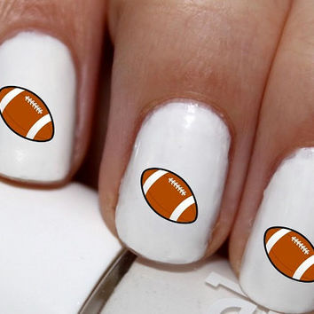 20 pc Football I Love Football  Nail Art  #cg021na