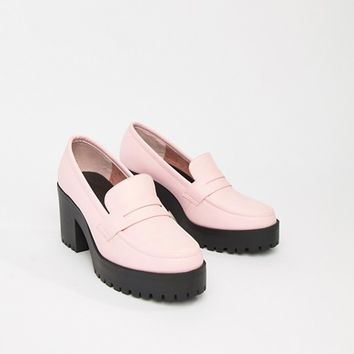 ASOS DESIGN Trilogy chunky loafers at asos.com