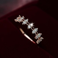 New Arrival Gift Shiny Korean Stylish Lace Jewelry Ladies Ring [11400114068]