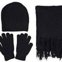 Great christmas gifts - Unisex Beanie, Gloves and Scarf Knitted Winter Set discount