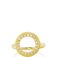 Rosette Nebula Gold 750° Oval Ring with Diamonds