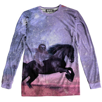 Majestic Sloth Long Sleeve Tee