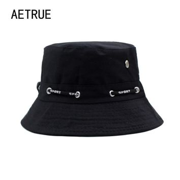 Brand Women Bucket Hats Men Blank Bob Caps Panama Sad Boy Solid Flat Hats For Men Cap Snapback Cotton Boonie Sun Bucket Hat 2018