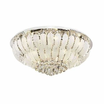 Luxury European Crystal LED Living Room Ceiling Lamps Peacook Glass Stainless Steel Meeting Room Ceiling Chandelier Fixtures